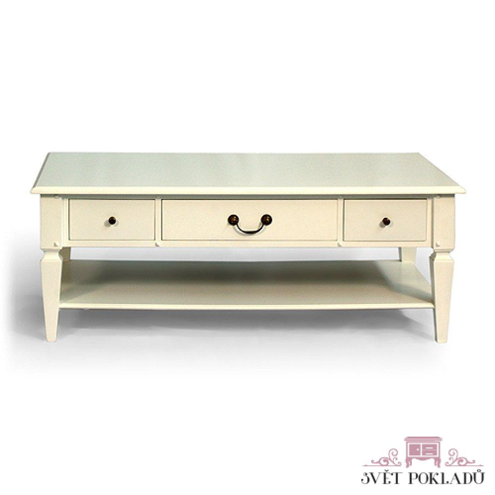 Bílý sofa stolek Provence