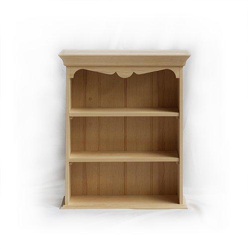 Knihovny a vitriny v rustikálním stylu Závěsná policová skříňka z třešňového dřeva.