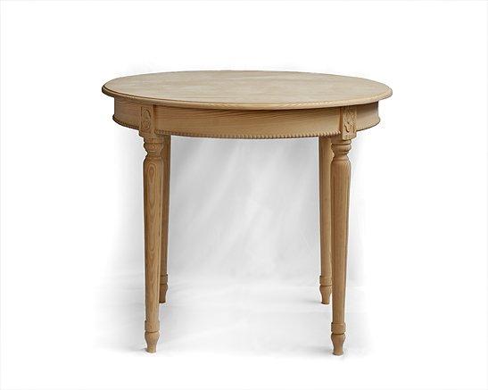 Stoly a stolky v rustikálním stylu Kulatý stůl z třešňového dřeva.