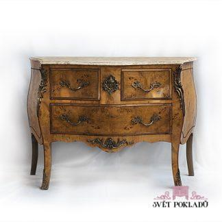 barokní komoda z masivu dýhovaná Svět pokladů