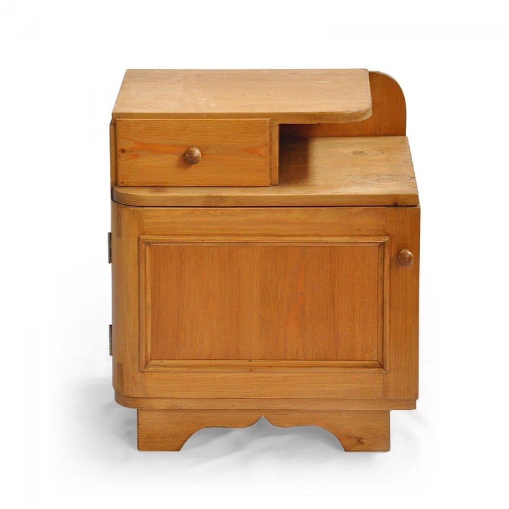 Postele a nábytek do ložnic Voskovaný noční stolek.