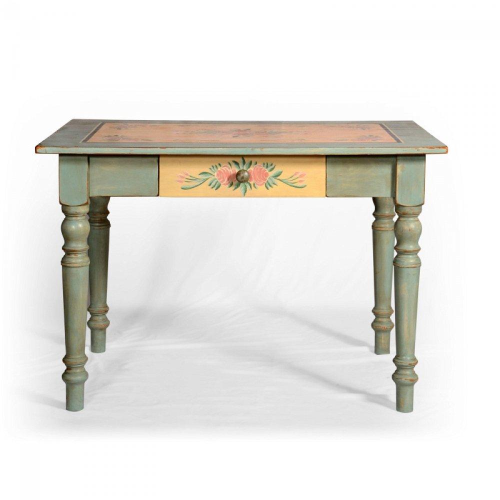 stůl malovaný z masivu svět pokladů