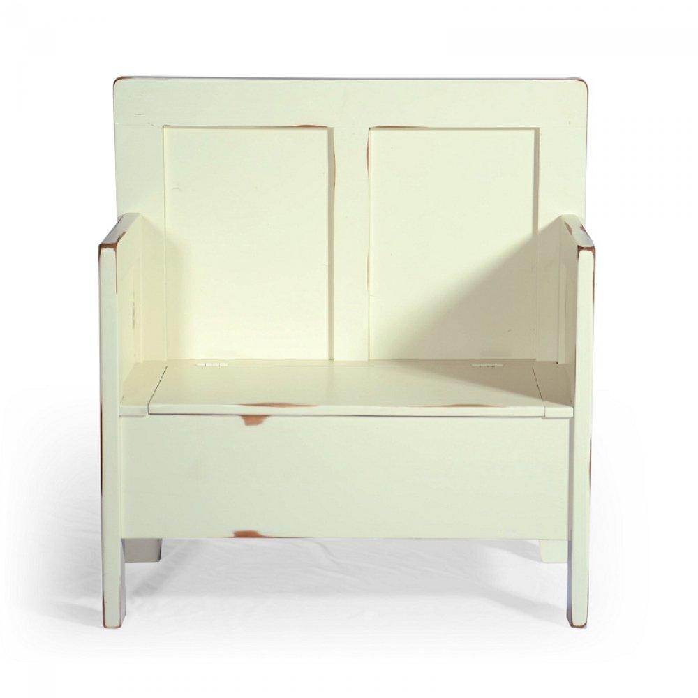lavice s úložným prostorem z masivu