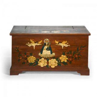 Malovaný a barvený nábytek Malovaná truhla s p.Marií.