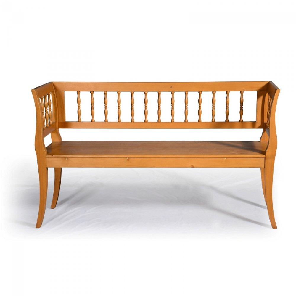 lavice ve stylu Biedermeier, ručně vyrobená dle předlohy z poloviny 19.století z masivního smrkového dřeva
