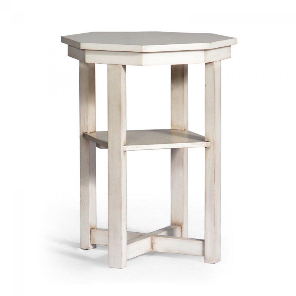 Bílý rustikální stolek Svět pokladů