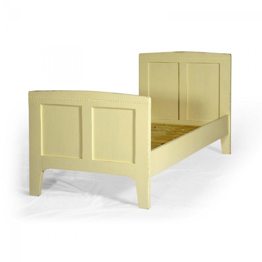 Krémová jednolůžková postel Svět pokladů