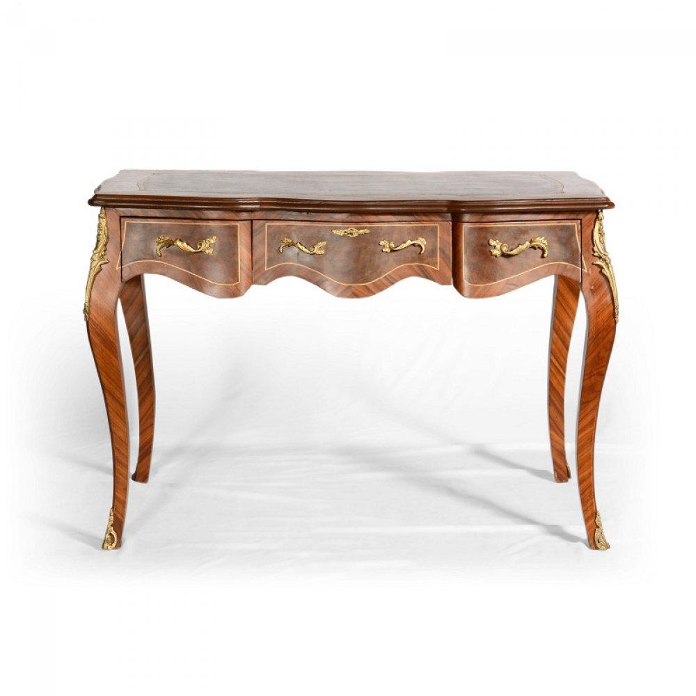 Sekretáře a psací stolky Psací stůl dýhovaný – replika originálu z období Ludvíka XV.