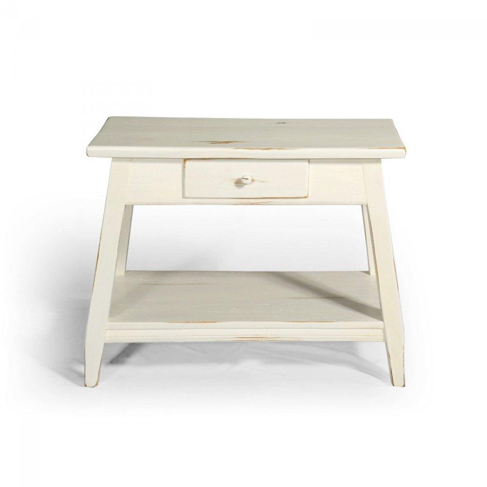 Malované stoly a stolky Bílý originální stolek.