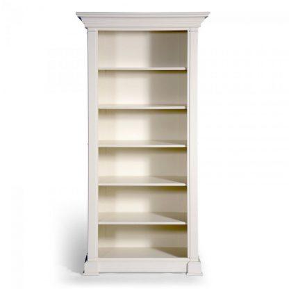 Bílá otevřená knihovna ze série Provence.