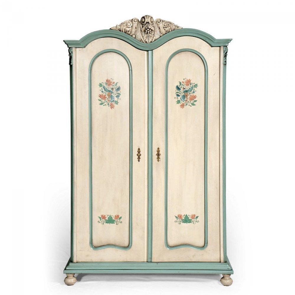 Malovaný a barvený nábytek Malovaná šatní skříň ze série Berdie