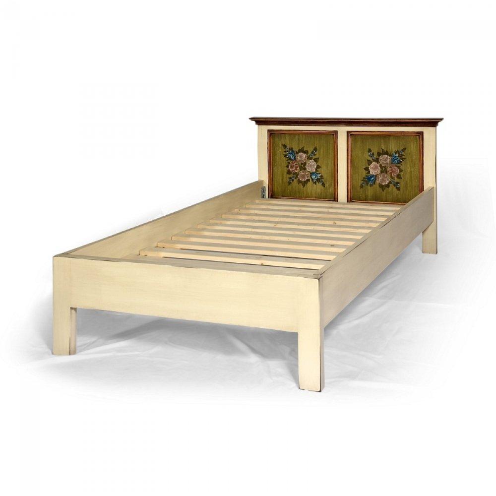 """Malované postele a nábytek do ložnic Bohatě malovaná postel ze série """"Mervart"""""""