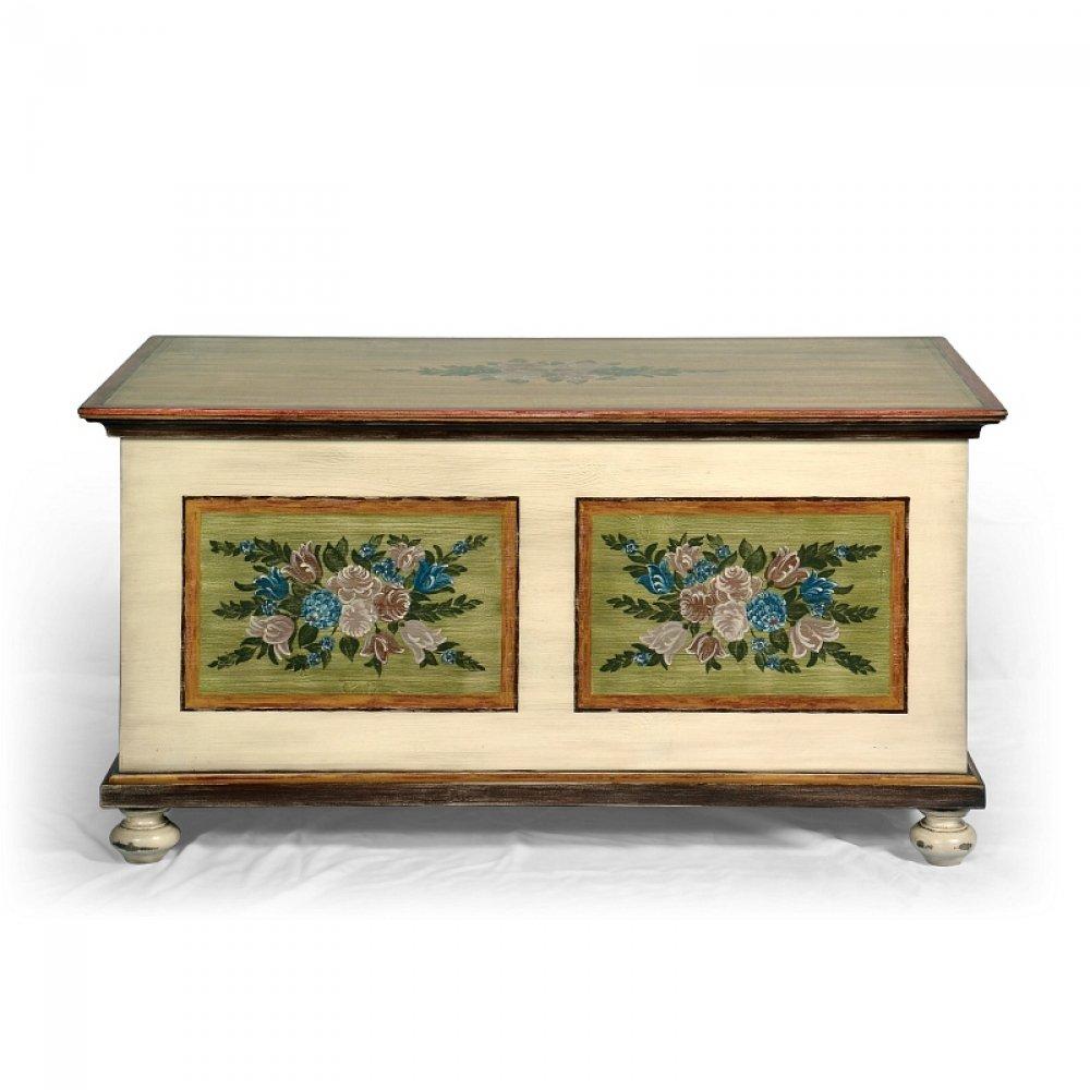 Replika malované truhly z masivu Svět pokladů