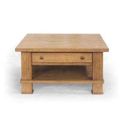 Kávový stolek ve středomořském stylu z masivního smrkového dřeva