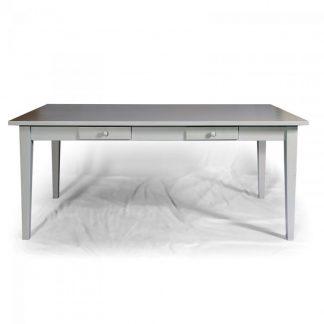 Malované stoly a stolky Šedý jídelní stůl.