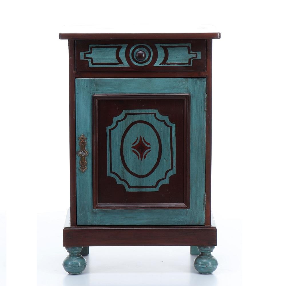 malovaný noční stolek Svět pokladů
