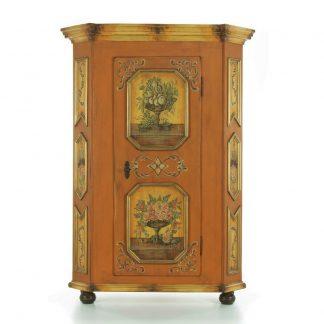 Malovaný a barvený nábytek Jednodveřová pětiboká šatní skříň.