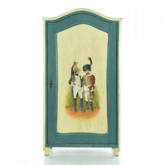 malovaná šatní skříň z masivu Svět pokladů
