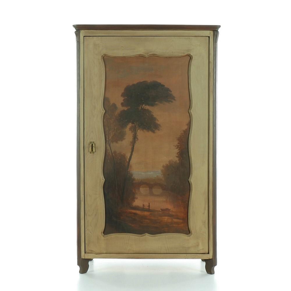 šatní skříň s malovanou krajinou Svět pokladů