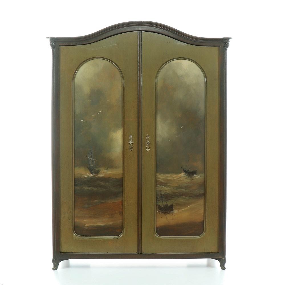 reapasovaná dvoudveřová skříň malovaná Svět pokladů