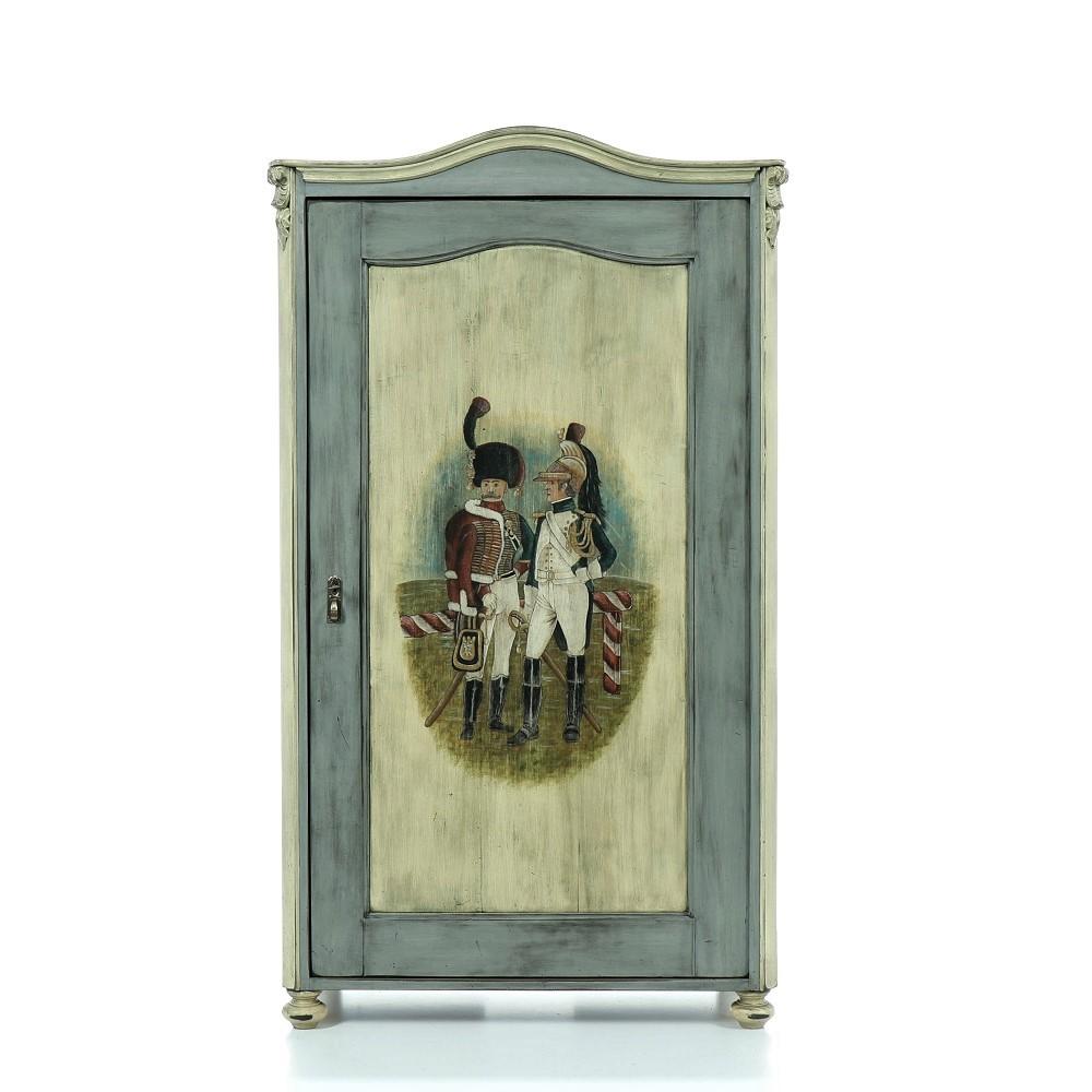 repasovaná malovaná skříň z masivu svět pokladů