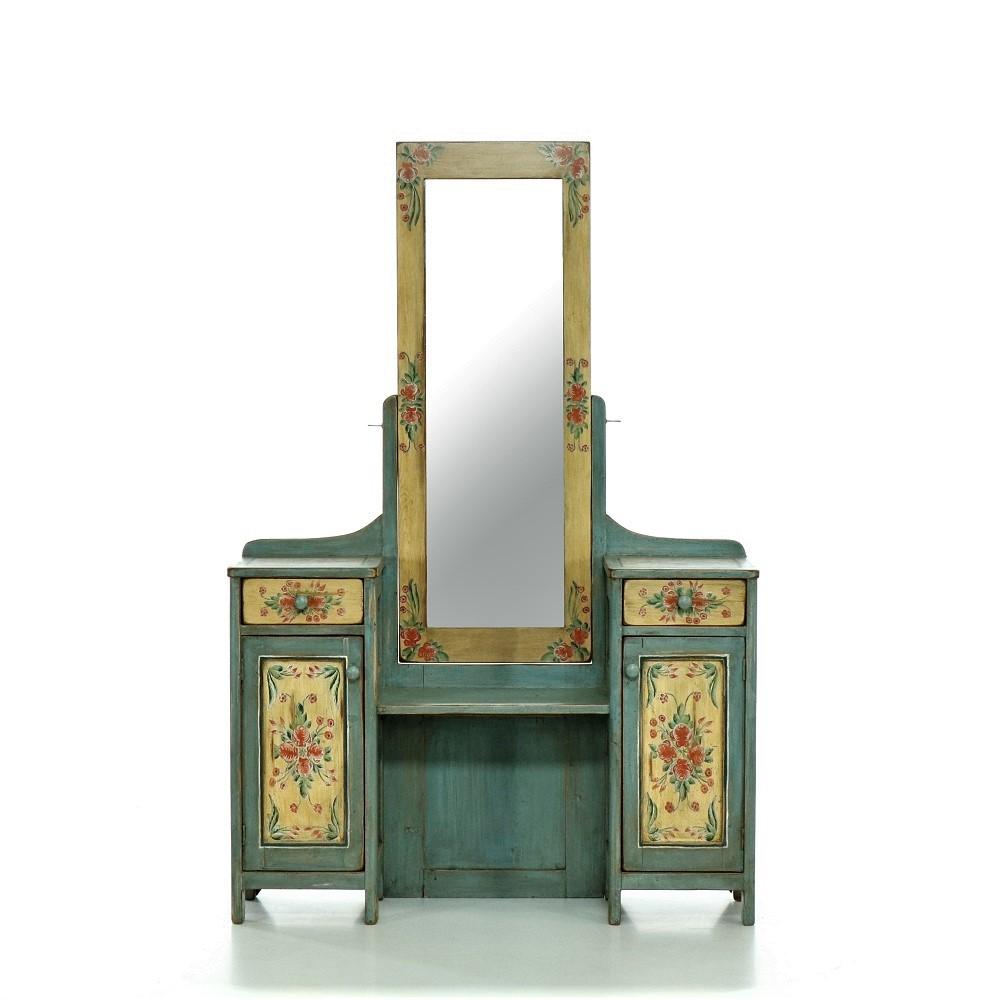 komoda se zrcadlem malovaná Svět pokladů