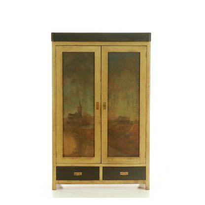 Malovaná dvoudveřová šatní skříň