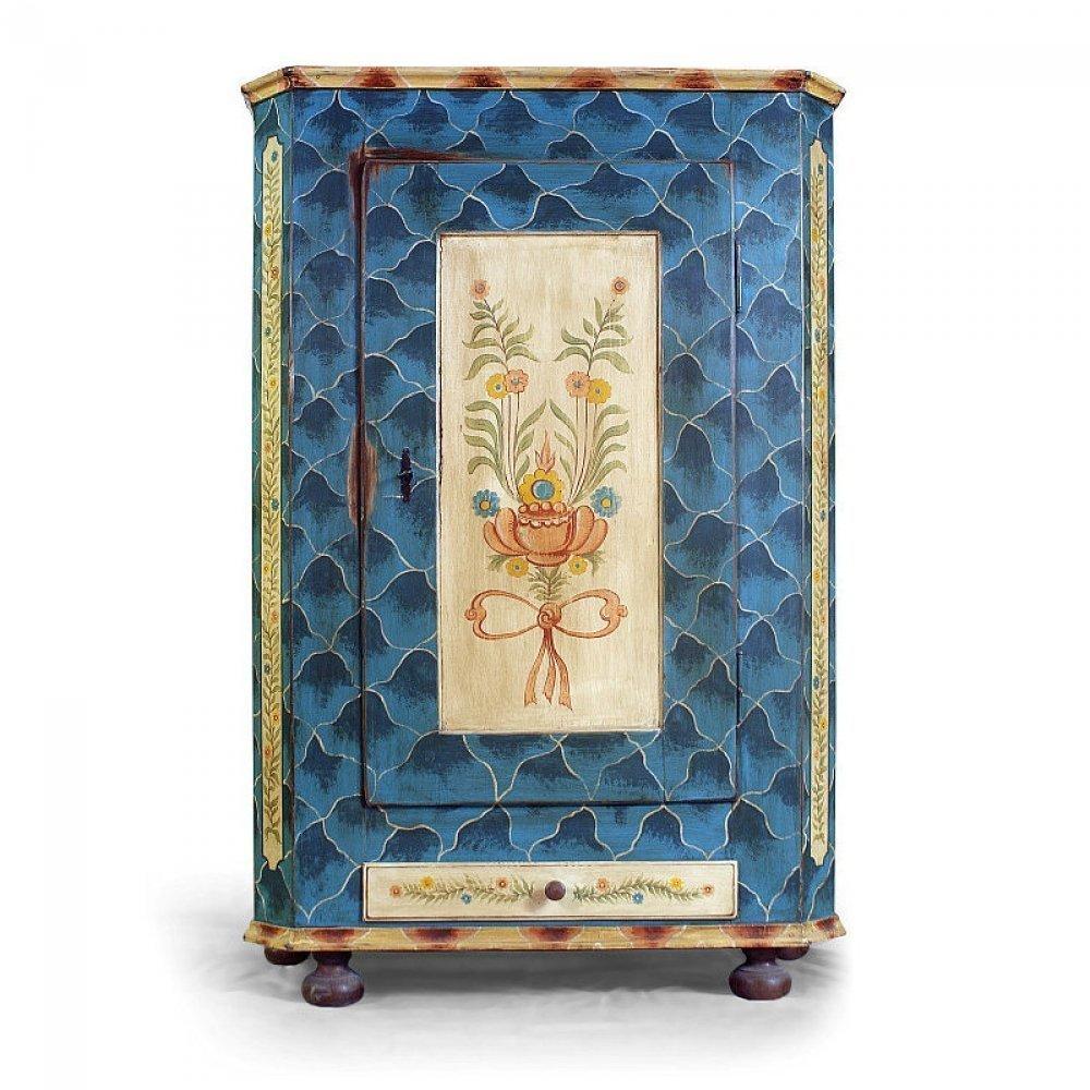 malovaná skříň se zásuvkou z masivu Svět pokladů