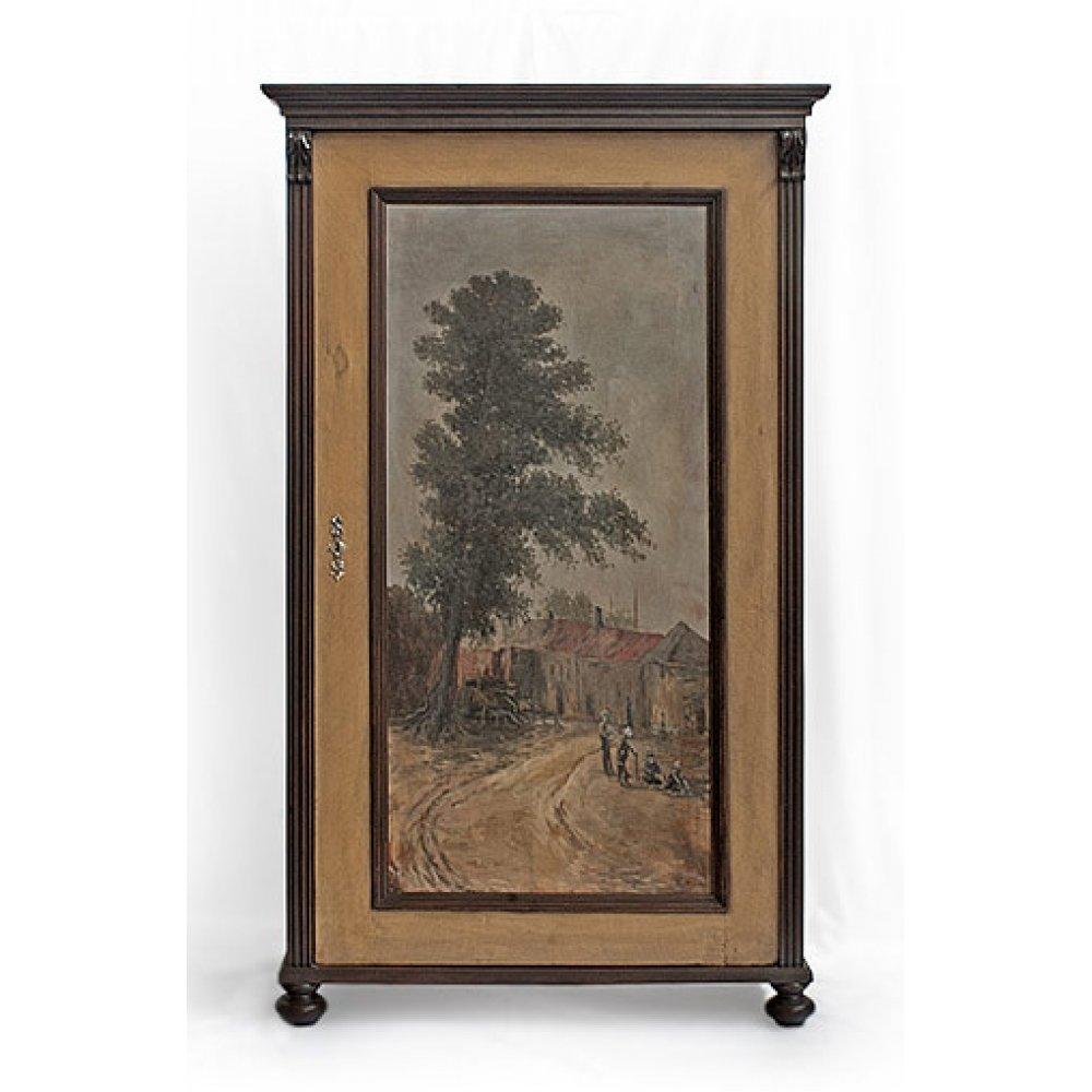 """Malovaný a barvený nábytek Malovaná předsíňová věšáková stěna ze série """"Le Florac""""."""