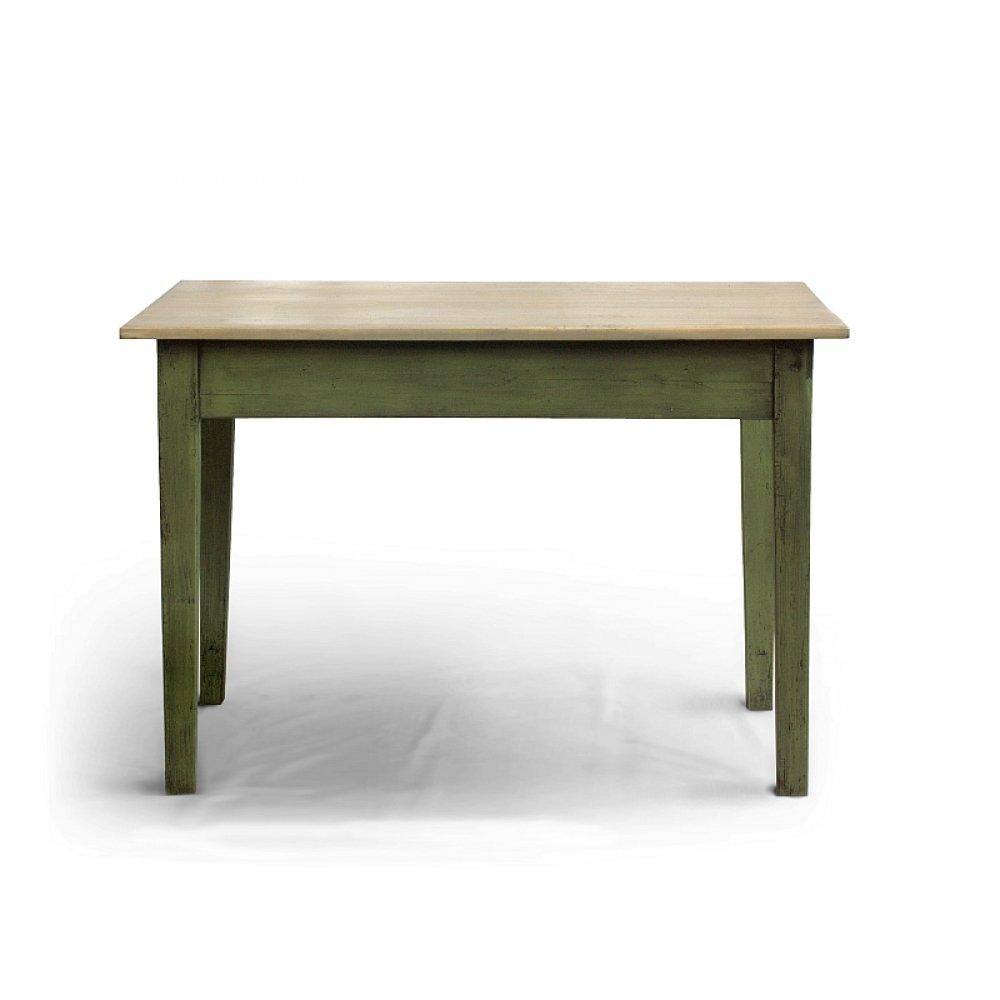 restaurovaný jídelní stůl zelený