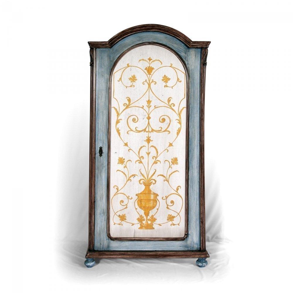 Jednodveřová malovaná šatní skříň