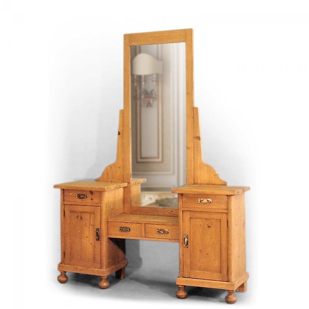 Replika toaletky z masivního dřeva