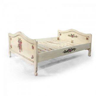 postel malovaná z masivu svět pokladů