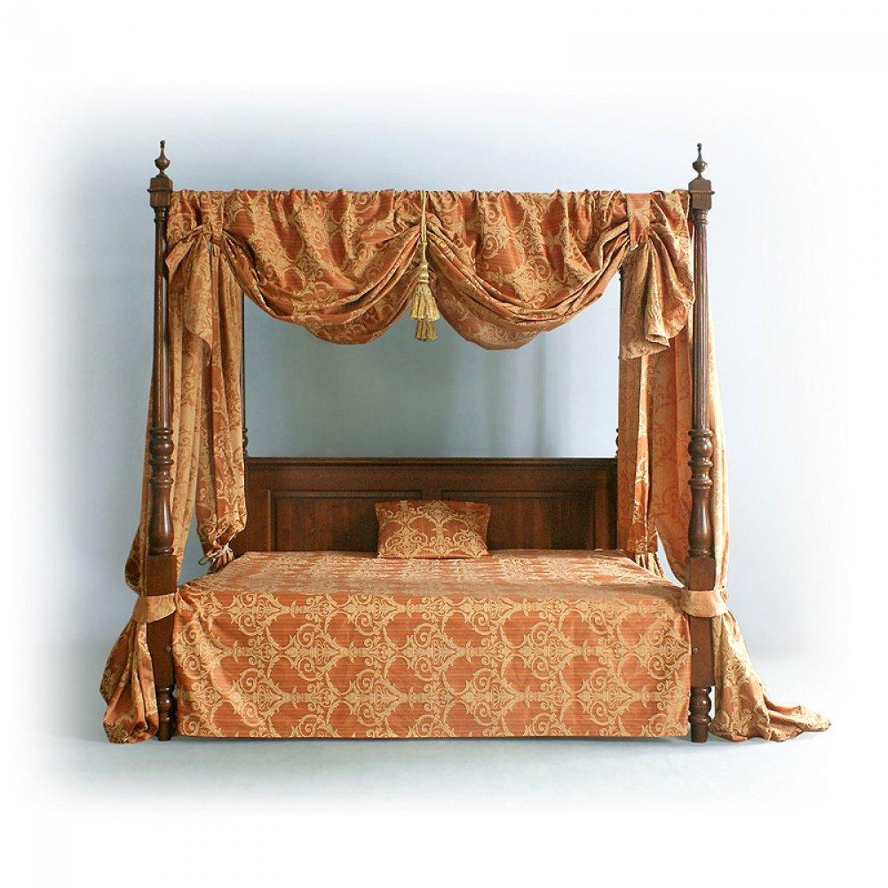 Postele a nábytek do ložnic Sloupková zámecká postel.