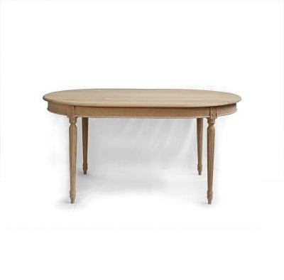 Stoly a stolky v rustikálním stylu Oválný stůl z třešňového dřeva.
