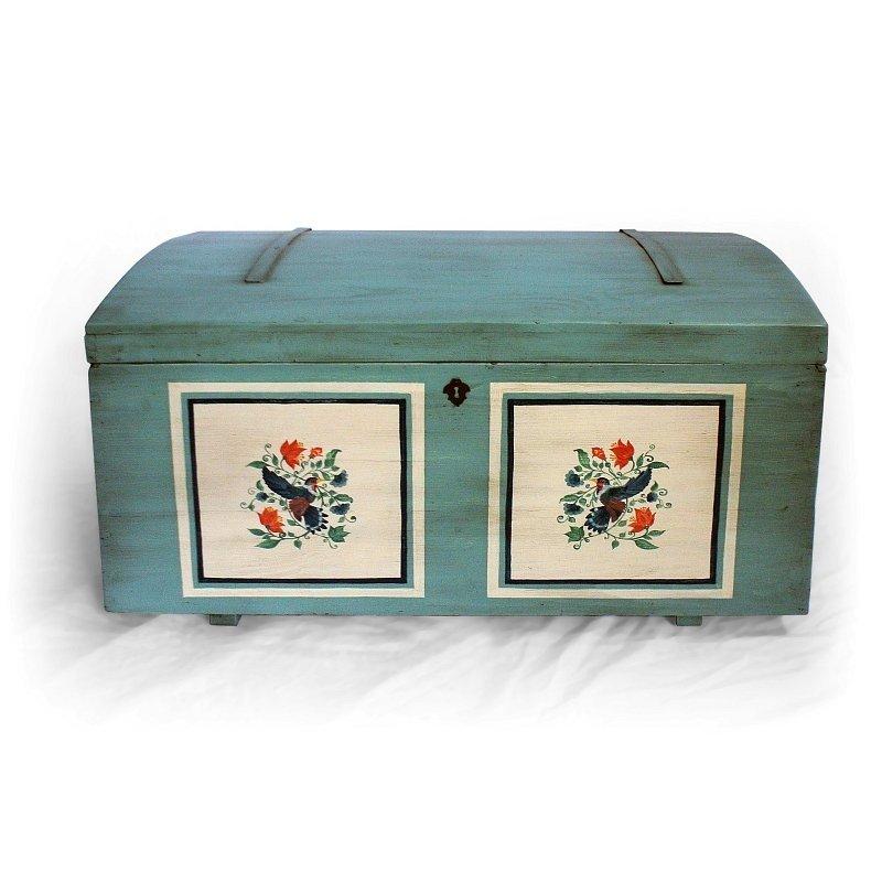 truhla malovaný kufr z masivu Svět pokladů