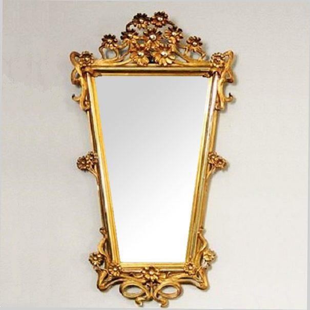 Secesní zrcadlo z masivního dřeva