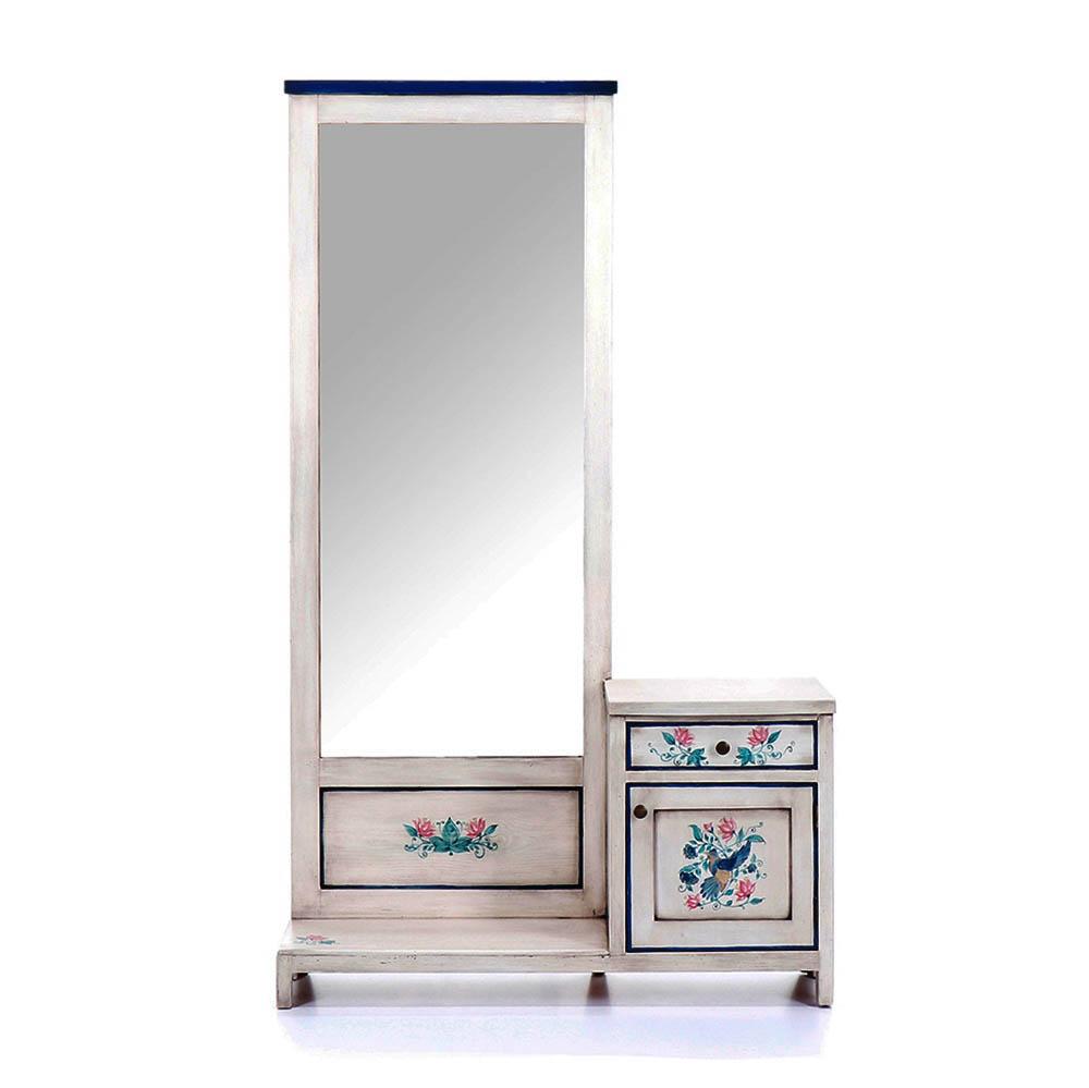 Malovaný a barvený nábytek Malovaná toaletka se zrcadlem z kolekce Berdie.