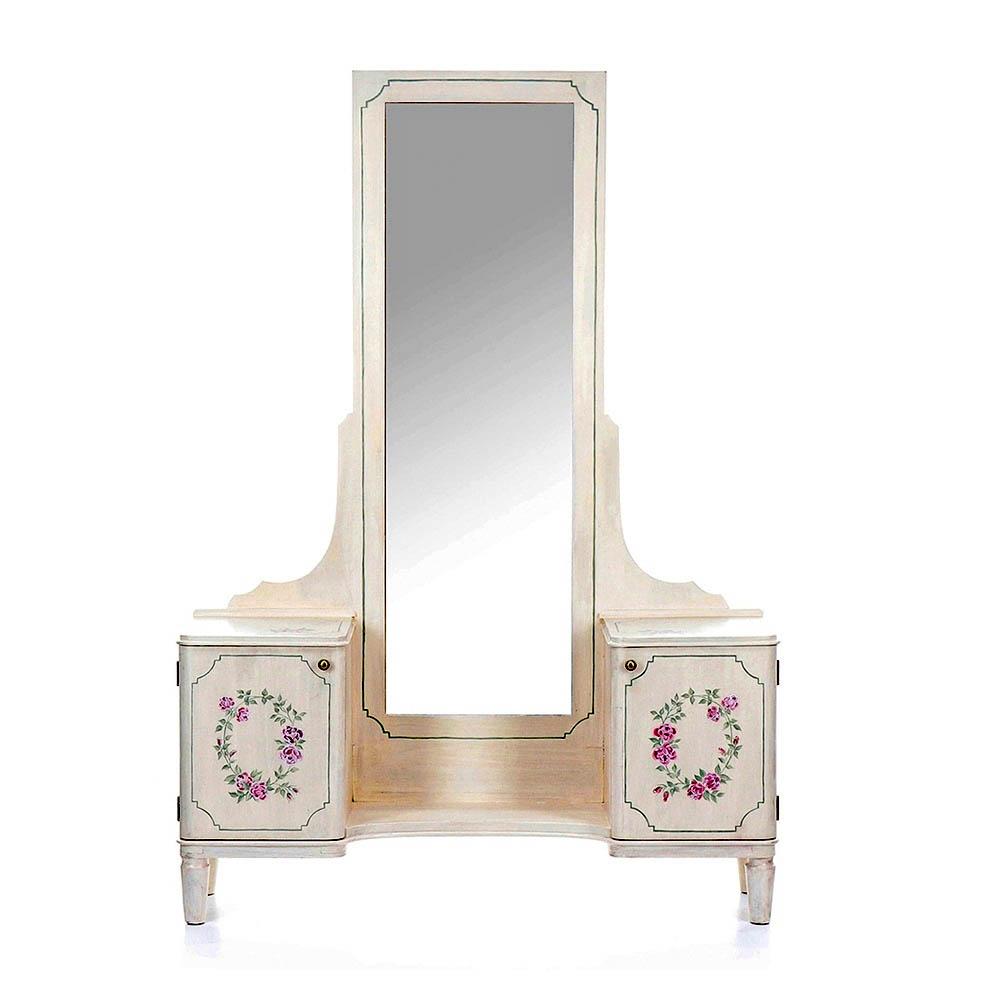 toaletka se zrcadlem malovaná