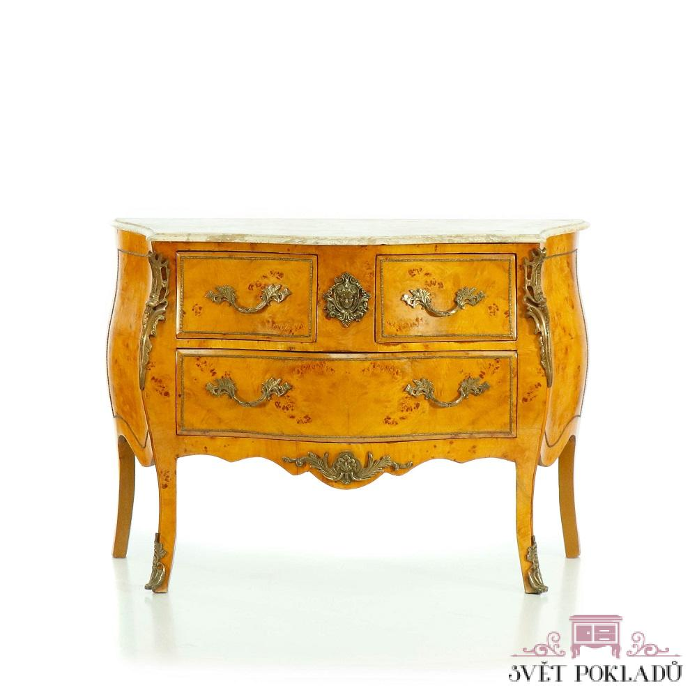 barokní prádelník z masivu Svět pokladů