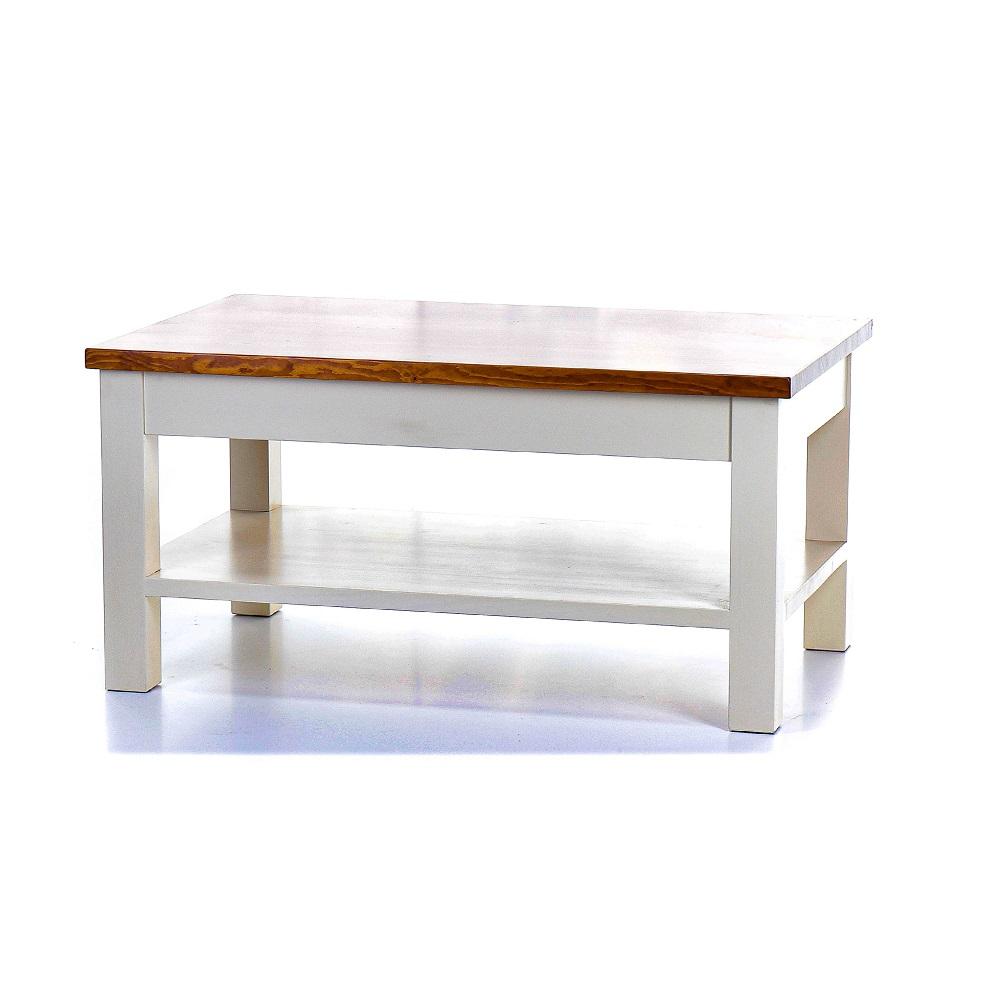 Malované stoly a stolky Kávový stolek z masivního smrkového dřeva
