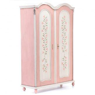 Malovaný a barvený nábytek Malovaná šatní skříň z konce 19.století