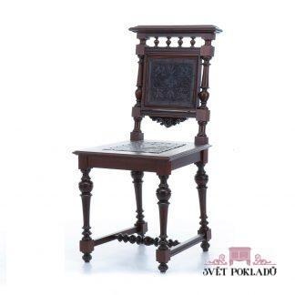 Zámecký a starožitný nábytek Sada šesti unikátních, naprosto zachovalých židlí z období Historismu.