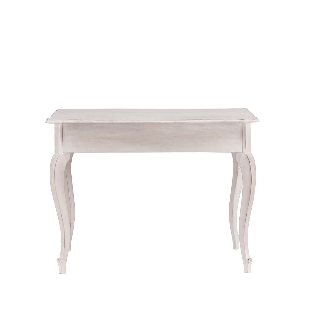 Malované stoly a stolky Bílý patinovaný stolek z tvrdého dřeva.