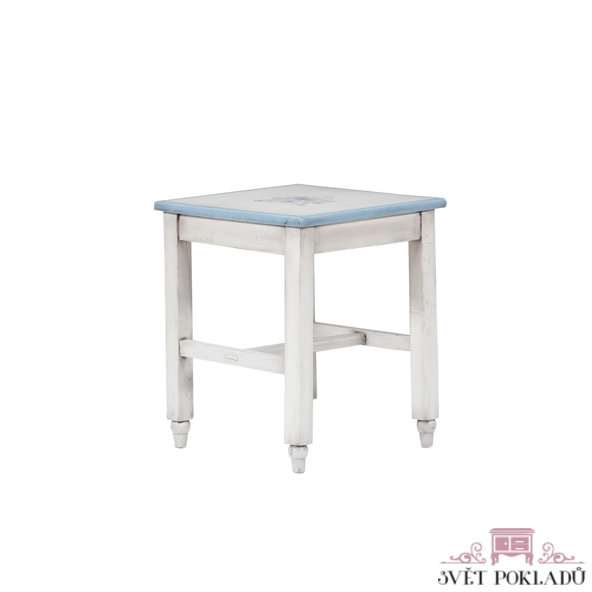 Malovaný a barvený nábytek Malovaná originální stolička – štokrle.