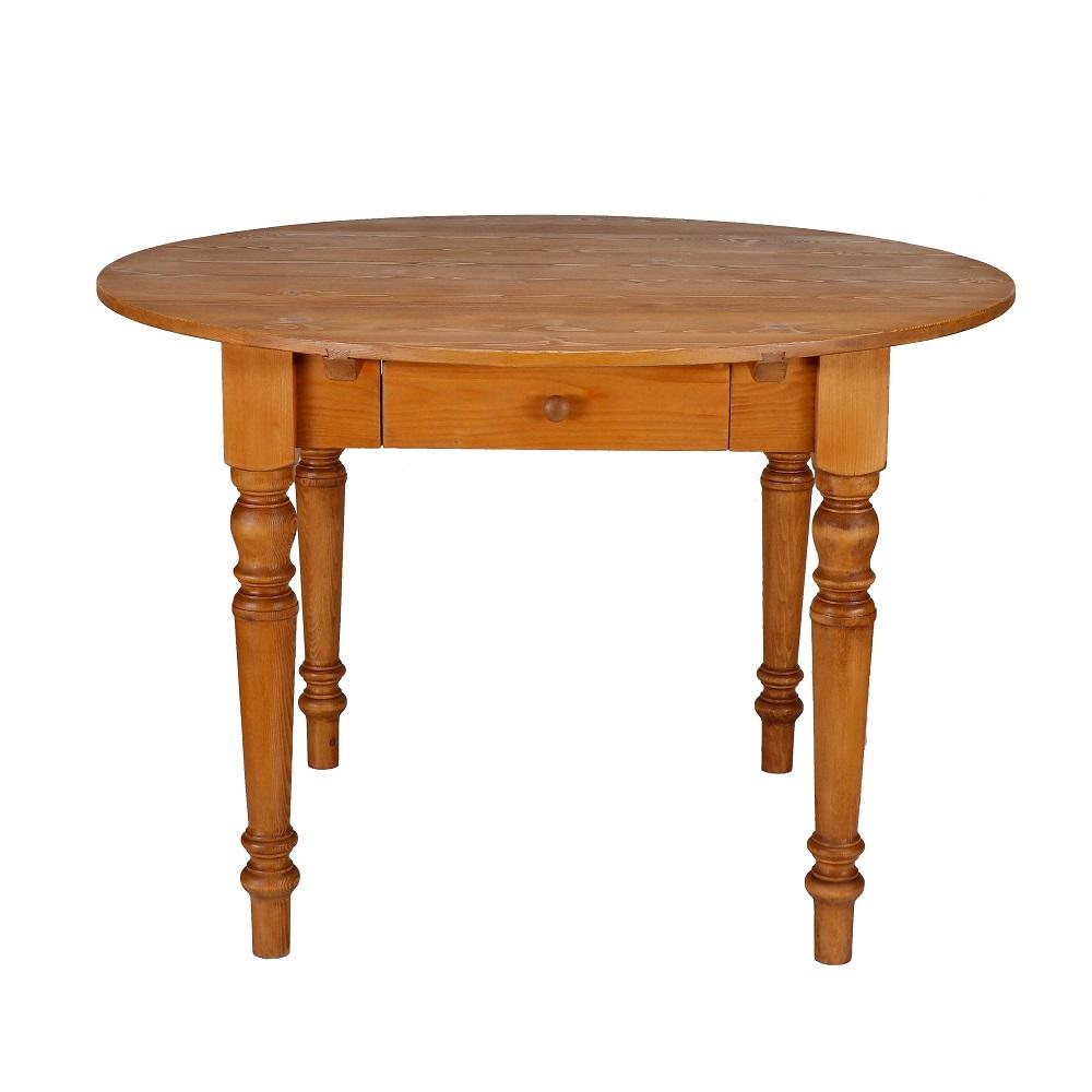 kulatý stůl z masivu Svět pokladů
