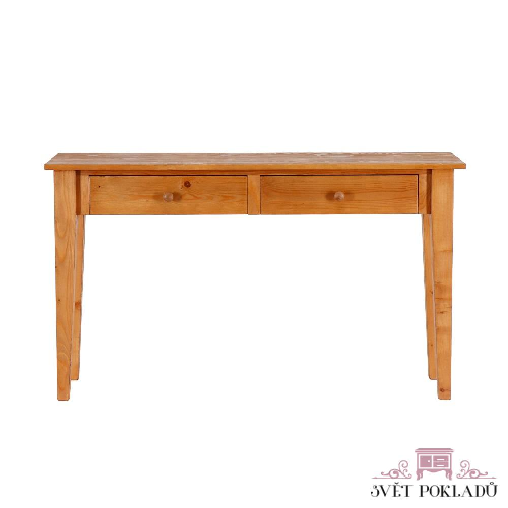 Stoly a stolky Úzký odkládací stůl z masivního smrkového dřeva.