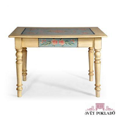 Selský malovaný stůl.