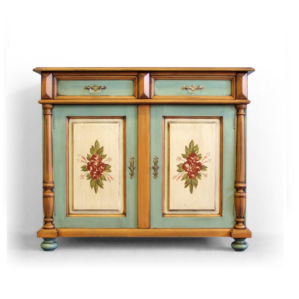 malovaná skříňka z masivu Svět pokladů