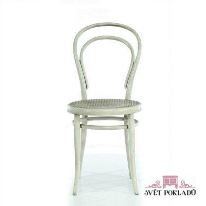 Repasovaná židle Thonet z ohýbaného dřeva.